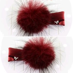 3 for $15 Baby Girl Fuzzy Hair Clips